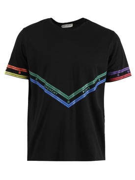 Multicolored Chain Print T-shirt