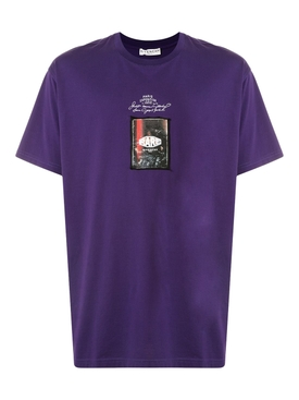 Purple logo graphic t-shirt
