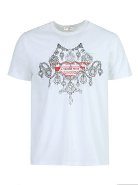 Jewelry Graphic Print Logo T-shirt WHITE