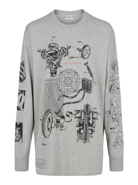 SCHEMATICS OVERSIZED T-SHIRT, GREY