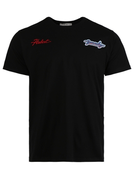 Motel Embroidered T-shirt, black