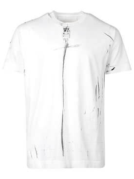 OVERSIZED TROMPE L'OEIL RING T-SHIRT, WHITE