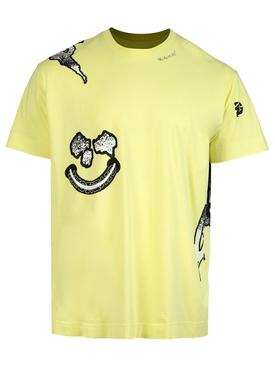 Bat LOL Print T-shirt Acid Yellow