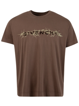 C&S Barbed Wire Tee Chocolate