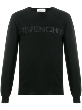 Tonal Logo Crewneck Sweater Black