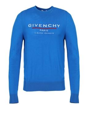 Ocean blue atelier crew-neck sweater