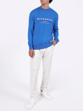 Ocean blue atelier crew-neck sweater
