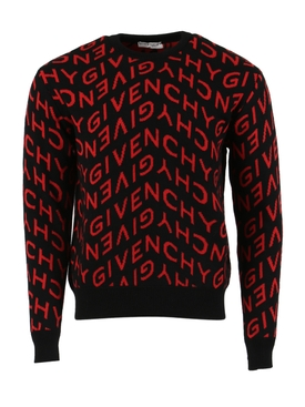 Logo Print Jumper BLACK/RED