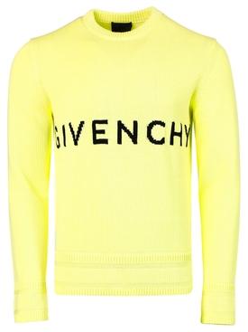 4G Crewneck Sweater Yellow and Black