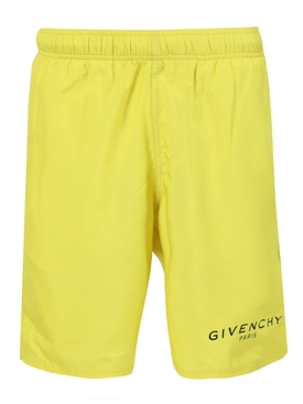 Long bermuda swim shorts LIME