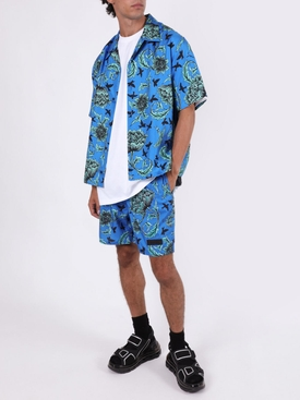 Ocean blue print swim shorts