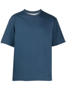 Reversible jersey t-shirt, LIGHT BLUE AND WHITE