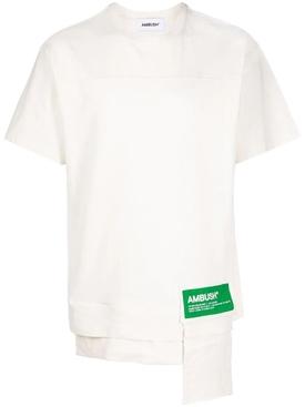 Waist pocket t-shirt tofu white and fern green