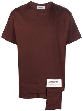 Waist pocket t-shirt deep mahogany