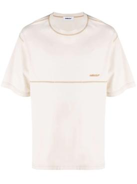 Overstitch t-shirt birch white