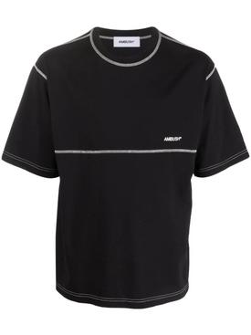 Overstitch T-Shirt Black Tofu