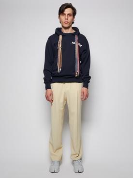 Multi-cord hoodie sweatshirt, BLUE AND WHITE