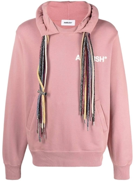Multi-cord hoodie sweatshirt, PINK AND WHITE