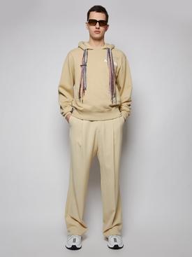 Multi-cord hoodie sweatshirt, SAND AND WHITE
