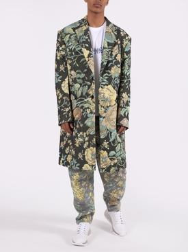 Multicolored Floral Long Overcoat