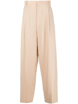 Loose fit suit pants, sesame beige