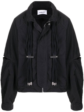 Multi-cord nylon jacket, JET BLACK