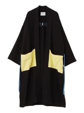 KIMONO LONG OVERSHIRT BLACK