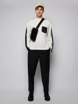 Taped knit sweater OFF-WHITE