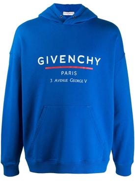 Iconic sporty hoodie OCEAN BLUE