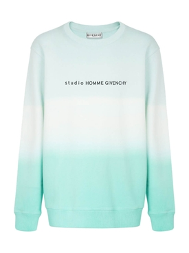 Dip-dye degrade sweater MINT GREEN