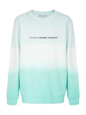 Dip-dye degrade sweater MINT GREEN