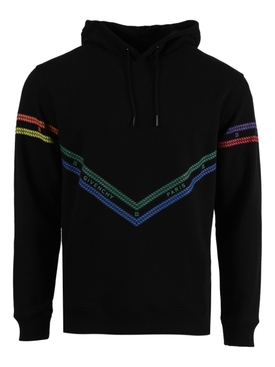 Multicolored chain print hoodie