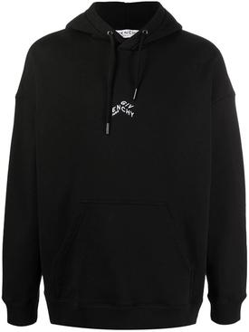 Refracted Logo Hoodie, Black