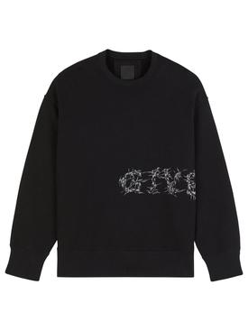 C&S Classic Fit Barbed Wire Logo Sweatshirt Black