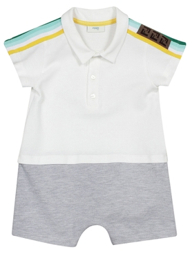 Kids Striped Polo Romper