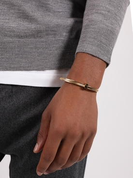 BRASS ZIP TIE BRACELET GOLD