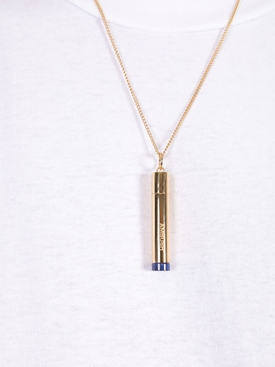 Pill case necklace GOLD/BLUE