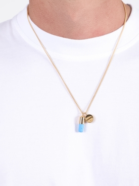 PILL CHARM NECKLACE GOLD/BLUE