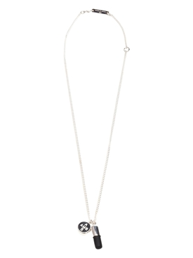PILL CHARM NECKLACE SILVER/BLACK