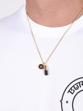 PILL CHARM NECKLACE GOLD/BLACK