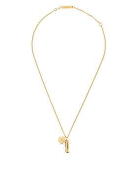 GOLD-TONE PILL CHARM NECKLACE