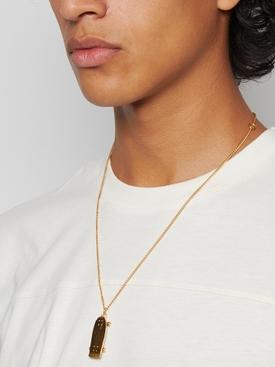 Gold-tone Skateboard pendant necklace