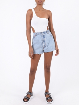 Milan cut-out swimsuit white