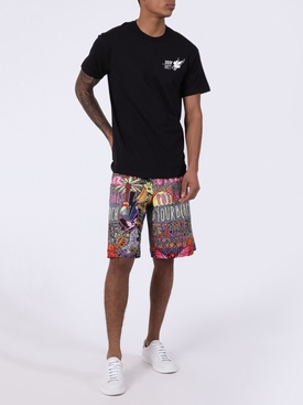 Over-sized multicolored shorts