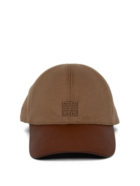 Cashmere and Leather 4G Cap Sand Brown