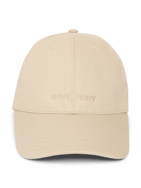 CURVED CAP WITH EMBROIDED LOGO Pale Golden