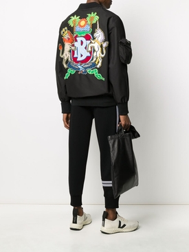 Black Multicolored Zip-Up Jacket