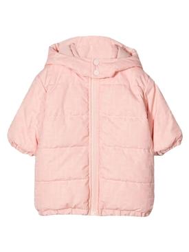 Baby Zip Up Jacket With Snap Hood Pink