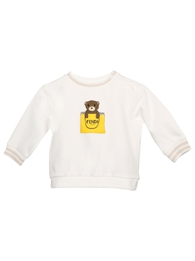 Bear Print Pullover Sweatshirt