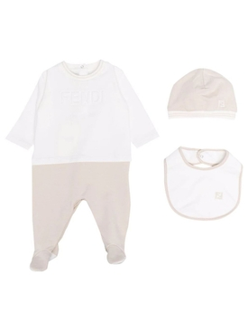 Baby Long Sleeve Footie With Hat And Bib